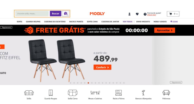 homepage search bar